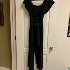 Black off the shoulder jumpsuit size 12